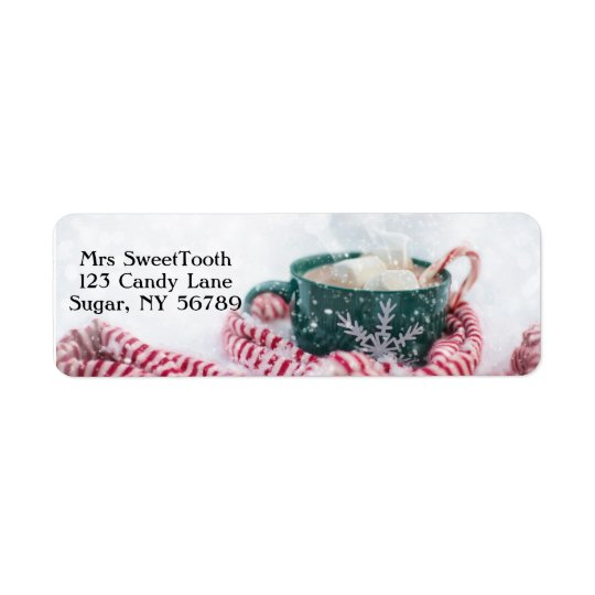 Hot Chocolate Personalised Address Labels