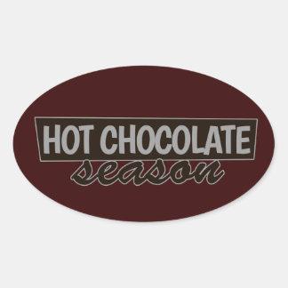 Hot Chocolate Season Oval Sticker