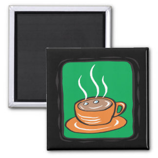 Hot Chocolate Square Magnet
