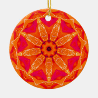 Hot Christmas Fractal Christmas Ornament