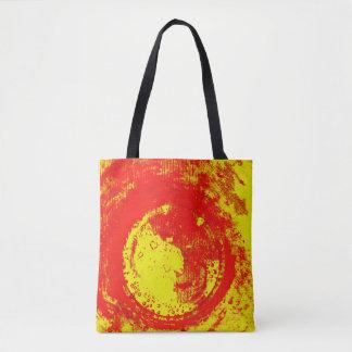 hot circle tote bag