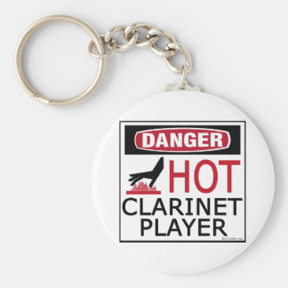 Hot Clarinet Player Keychain
