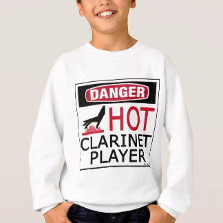 Hot Clarinet Player Sweatshirt