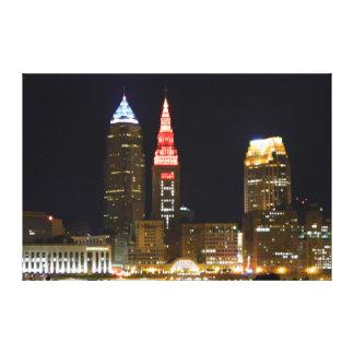 Hot Cleveland Terminal Tower Light Canvas Print