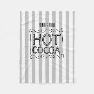 Hot Cocoa Add Your Name Fleece Blanket