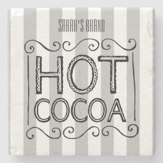 Hot Cocoa Add Your Name Stone Coaster