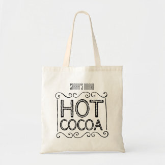 Hot Cocoa Add Your Name Tote Bag