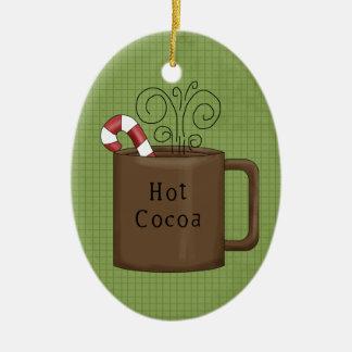 Hot Cocoa Ceramic Christmas Ornament
