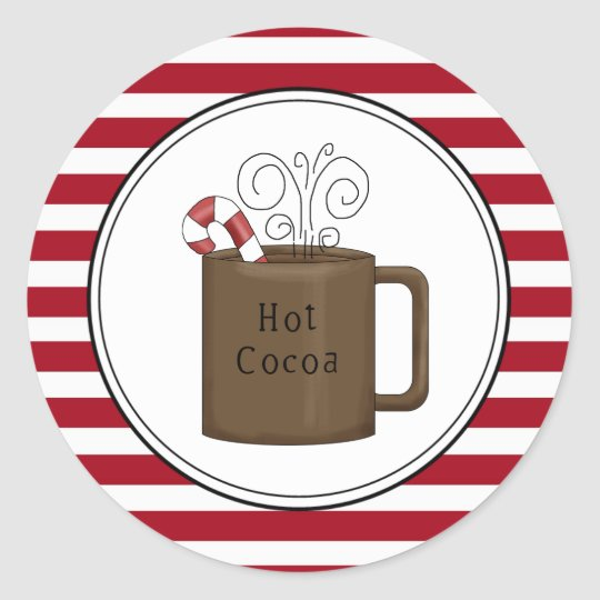 Hot Cocoa Holiday Envelope Seals Stickers