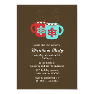 Hot Cocoa Holiday Party Invitations