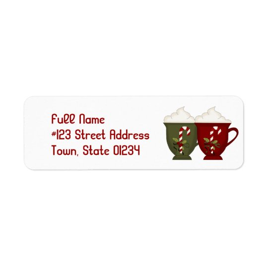 Hot Cocoa Mailing Labels