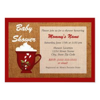 Hot Cocoa Winter Baby Shower Invitation - Red