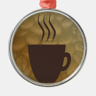 Hot Coffee Background Christmas Ornament