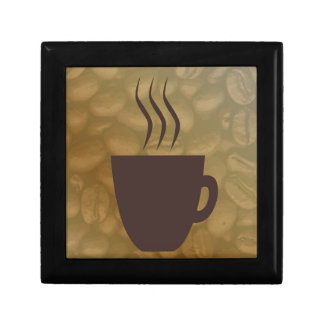 Hot Coffee Background Gift Box