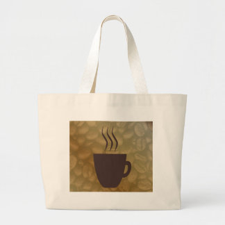 Hot Coffee Background Large Tote Bag
