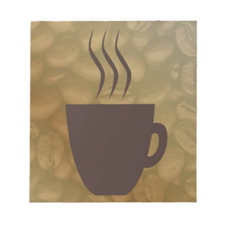 Hot Coffee Background Notepad