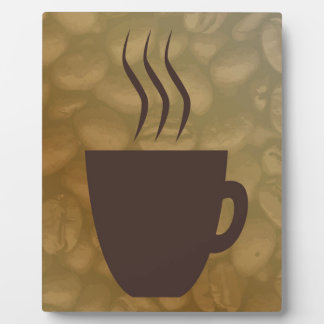 Hot Coffee Background Plaque