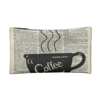 Hot Coffee Cup Cosmetics Bags