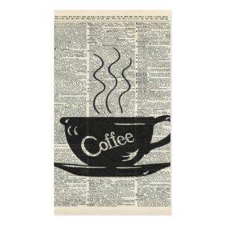 Hot Coffee Cup Pack Of Standard Business Cards