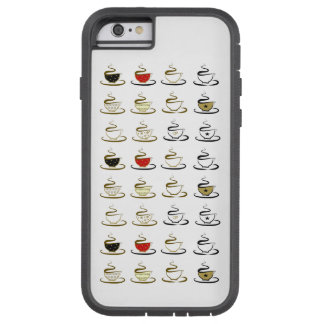 Hot Coffee Cup Pattern Stylish Sketched Minimalist Tough Xtreme iPhone 6 Case