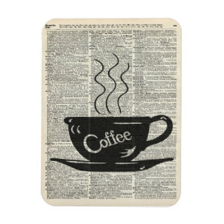 Hot Coffee Cup Rectangular Photo Magnet