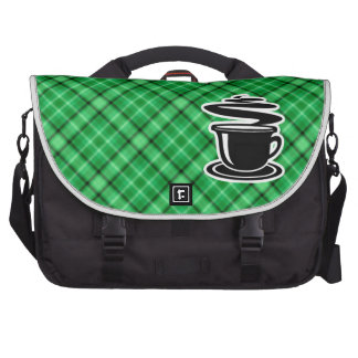 Hot Coffee Green Bag For Laptop