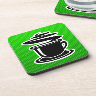 Hot Coffee; Green Coaster