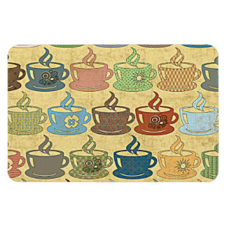 HOT COFFEE OR TEA RECTANGULAR PHOTO MAGNET