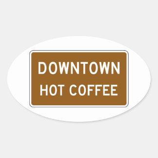 Hot Coffee Road Marker Mississippi USA Sticker