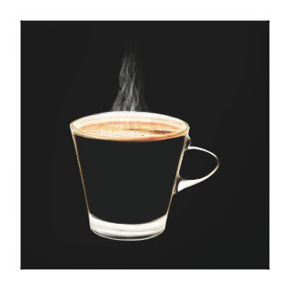 Hot Coffee Stretched Canvas Print