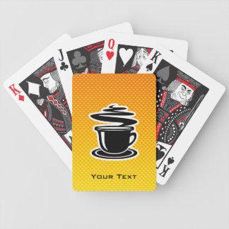 Hot Coffee; Yellow Orange Bicycle Playing Cards