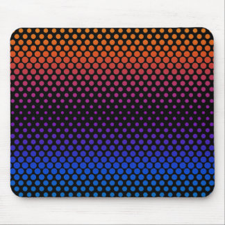 Hot Cold Fading Halftones Mouse Mat