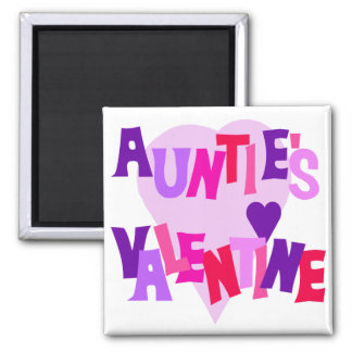 Hot Colors Heart Auntie's Valentine Fridge Magnets
