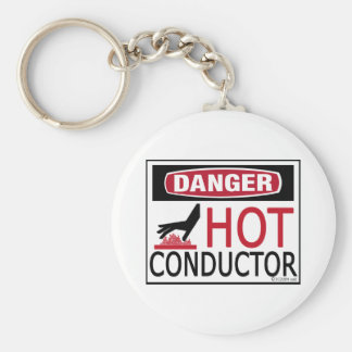 Hot Conductor Basic Round Button Key Ring
