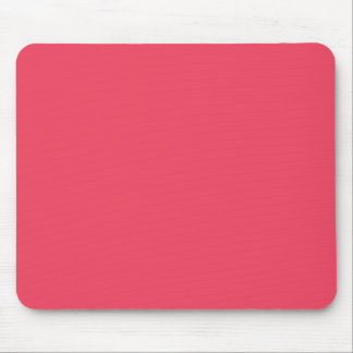 Hot Coral Pink Personalized Neon Salmon Background Mouse Mat