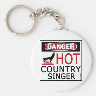 Hot Country Singer Basic Round Button Key Ring