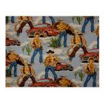 Hot Cowboys Post Card