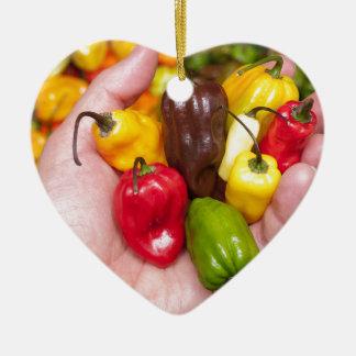 Hot crops ceramic heart decoration