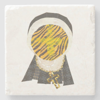 Hot Cross Bun Nun Marble Coaster