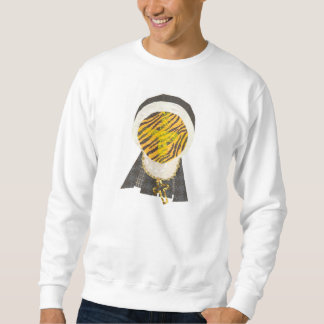Hot Cross Bun Nun No Background Men's Jumper Sweatshirt