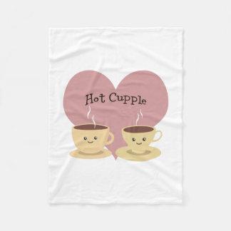 Hot Cupple! Fleece Blanket
