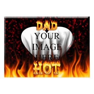 Hot dad fire and red marble heart pack of chubby business cards