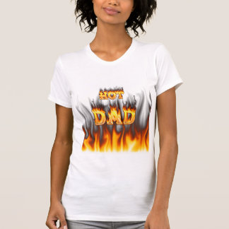 Hot dad fire and red marble heart shirt