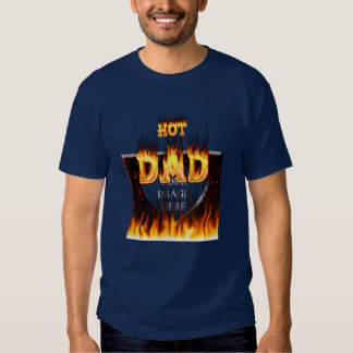 Hot dad fire and red marble heart tees