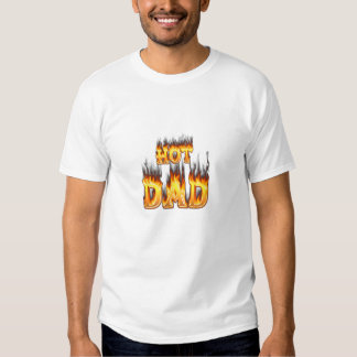 Hot dad fire and red marble heart tshirts