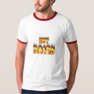Hot David fire and flames red marble. T-Shirt