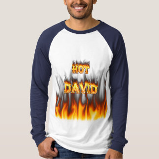 Hot David fire and flames red marble. Tees