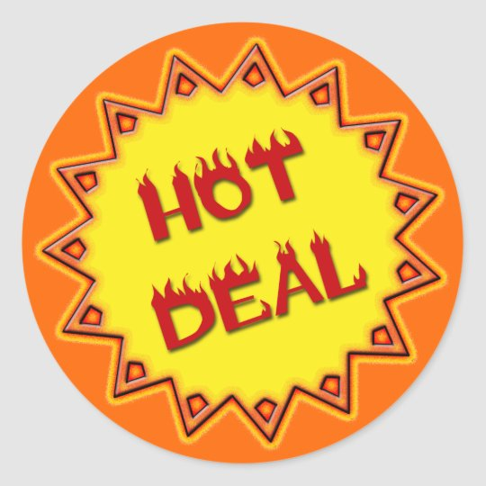 HOT DEAL - RETAIL SIGN CLASSIC ROUND STICKER