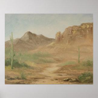 Hot Desert Landscape Poster