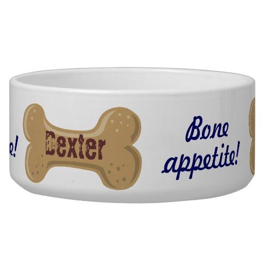 Hot Diggity_Bone Appetite_personalized Dog Bone 2 Pet Bowl